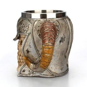 Image 5 - Stainless Steel Skull Mug Viking Ram Horned Pit Lord Warrior Beer Stein Tankard Coffee Mug Tea Cup Halloween Bar Drinkware Gift