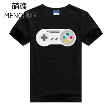 2017 Retro game console printing t shirts game fans t shirts SFC t shirts men's lycra cotton short sleeve t shirts ac687