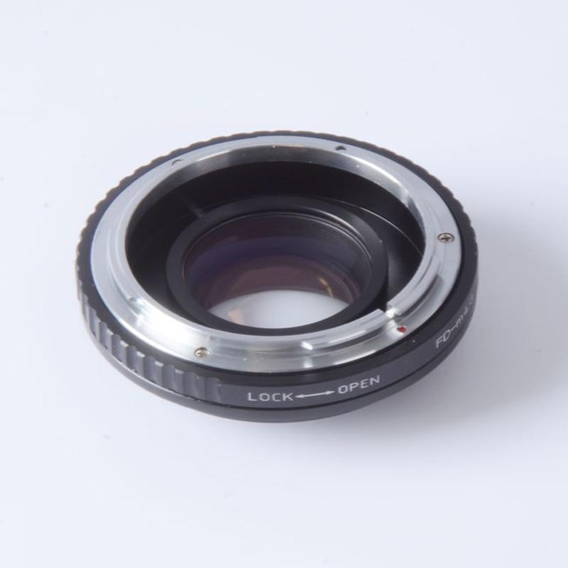 Focal Réducteur vitesse booster turbo adaptateur pour Canon FD Lens pour m4/3 mont caméra GF5 GF6 GX7 EM5 E-PL6 E-PL5 E-PM2 OM-D