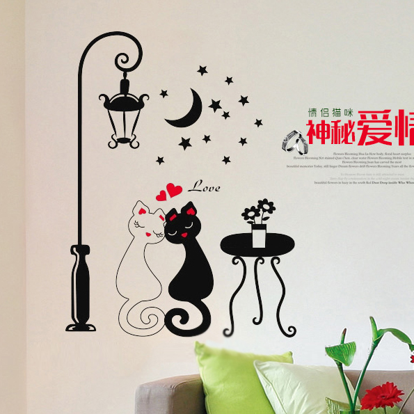 Home Decoration Decors Cute S Cats Stickers Decals Adesivo De Parede Kids Children Rooms Decor Diy