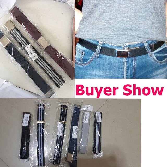 Fashion Elastic Canvas Belt for Boys 6