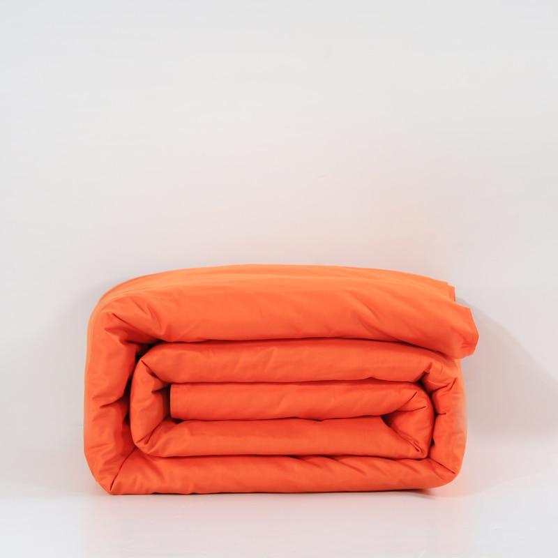alta Quality100 % algodón sistema del lecho de naranja 1 unids Duvet Cover Set