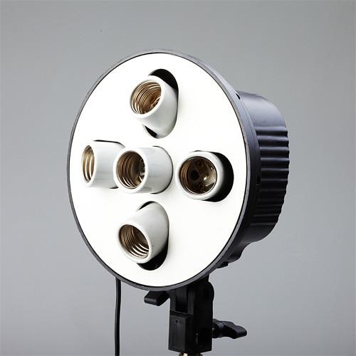 ФОТО Photo Lamp Bulb Holder 5 x E27 Socket Umbrella Bracket studio continuous light lamp holder PSCSB5H  Studio Photography Light