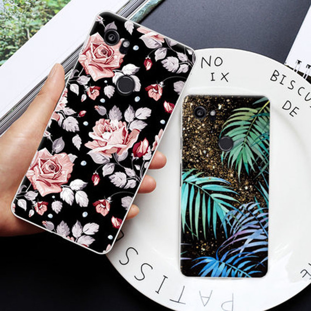 2pcs 6.0inch shell For Google Pixel XL 2 XL2 Case Soft TPU Cover Skin For Google Pixel 2 XL 2XL Battery Back cover case