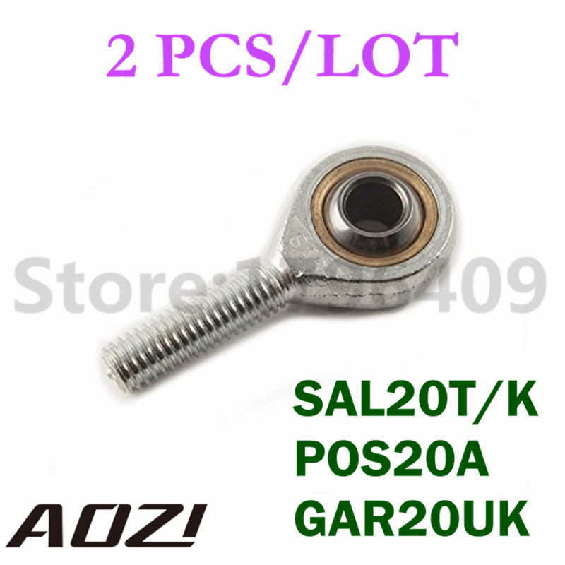 SAL20T/K POS20A GAR20UK Male Threaded Rod End Left Hand Threaded Ball Joint 2PCS/LOT High Quality 2pcs left