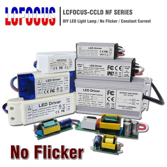 No Flicker 1W 3W 5W 10W 20W 30W 36W 50W 100W LED Driver Lighting Transformers Power Supply for 1 3 5 10 20 30 50 100 W Watt Lamp