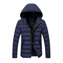 2016 men winter jackets and coat overcoat outwear hooded slim fit down parkas M-3XL JPYG148