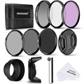 Neewer 58MM Professional UV CPL FLD Lens Filter+ND Neutral Density Filter(ND2/ND4/ND8) Accessory Kit for Canon Rebel/EOS Camera