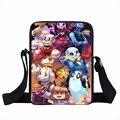 Anime Undertale Sacos Do Mensageiro Dos Homens Crossbody Mini Bag Para Crianças Impressão Dos Desenhos Animados 3d Bolsa de Viagem Sacos de Ombro Crianças Saco de Lona