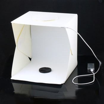 Portable Backdrop Stand | Claite 30cm Portable Folding LED Photo Light Box Photography LED Light Room Tent With Backdrops For Digital DSLR Camera