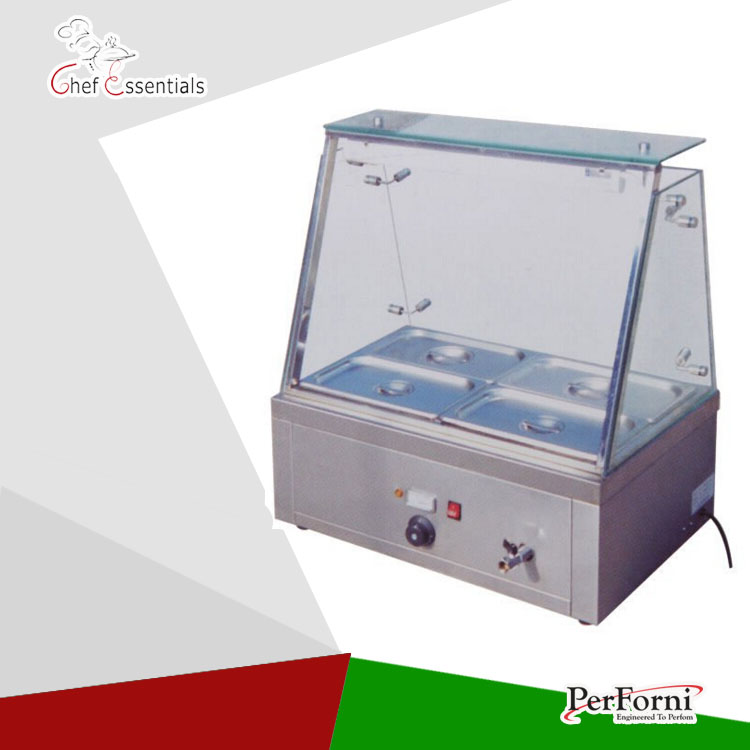 PK-JG-EH610 Four pans, with Glass protective mask for Commercial Kitchen Counter Electric Bain Marie new phoenix 11207 b777 300er pk gii 1 400 skyteam aviation indonesia commercial jetliners plane model hobby