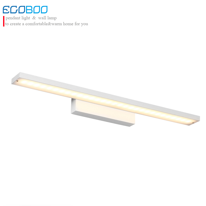 Modern simple style 24w 100cm long white LED bathroom mirror picture light for home wall decoration with warm light &cold light ecobrt 7w led mirror wall lamps 40cm long modern furniture led picture lights rotated arm for home bathroom wall light