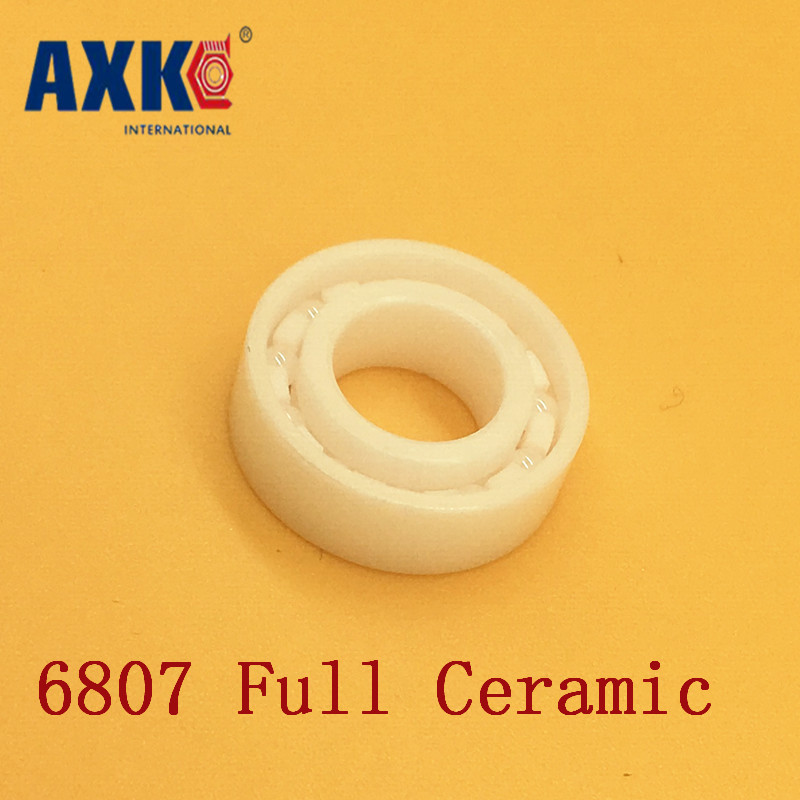 2018 New Arrival Hot Sale Axk 6807 Full Ceramic Bearing ( 1 Pc ) 35*47*7 Mm Zro2 Material 6807ce All Zirconia Ball Bearings hot 608 full ceramic bearing zro2 ball bearing 8x22x7mm zirconia oxide new with corrosion resistance