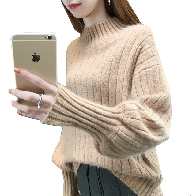 8261a03108 High quality spring autumn fashion shawl sweater new Korean version short  sweater for women hooded bat sleeve lady s sweater