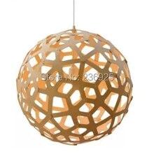 Dia30 / 45 / 55 / 60 / 80 / 85 CM Coralline color de madera de color de bambú Coral restaurante Droplight Droplight encajen para 80 – 230 V SS2