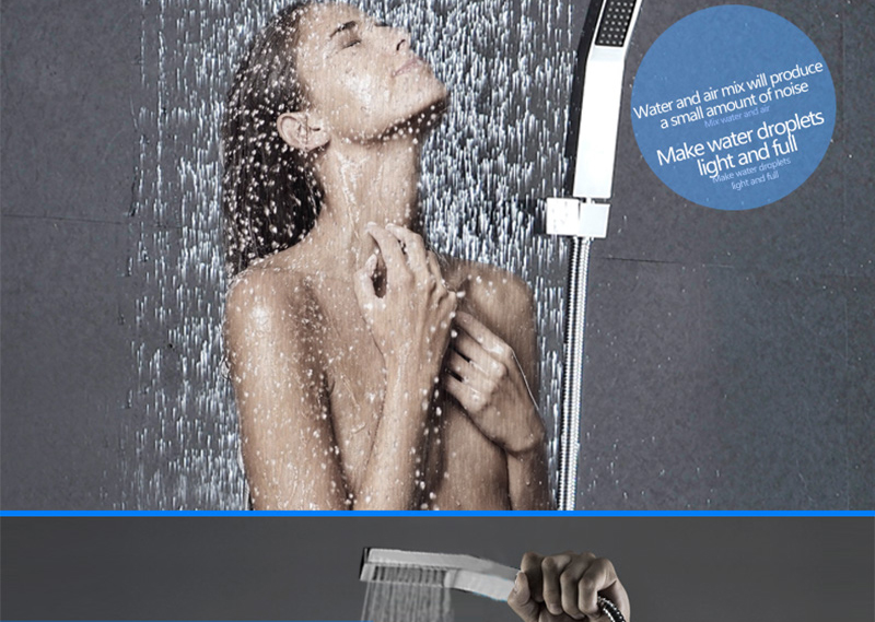 DCAN Bathroom Luxury Rain Mixer Shower Combo Set Wall Mounted 10'' Rainfall Shower Head System Polished Chrome (10)