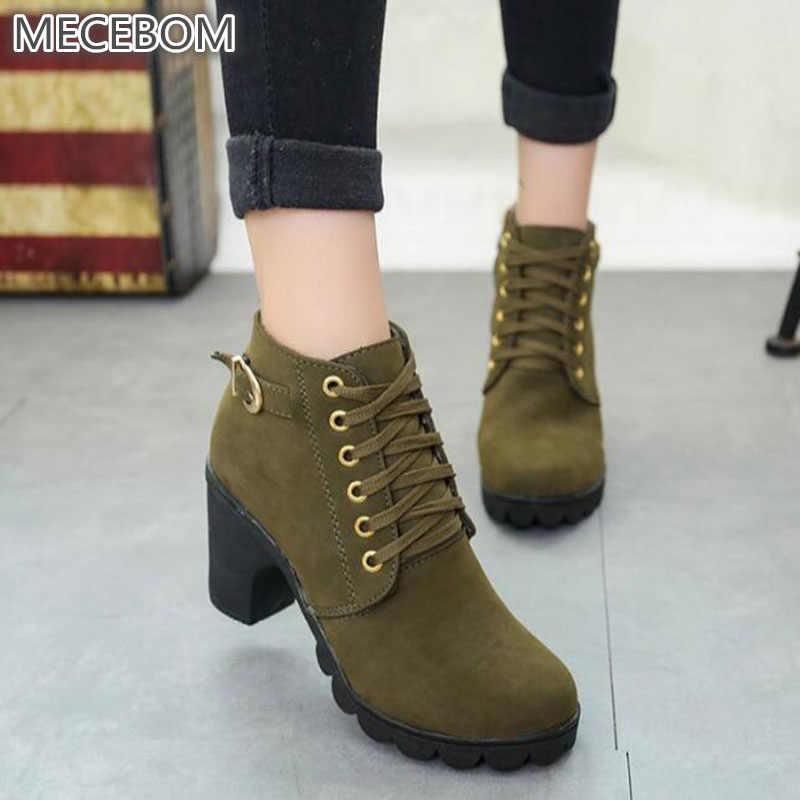 Зимние женские флоковые ботильоны на толстом высоком каблуке; женские ботинки «Челси»; повседневная женская обувь на платформе; sapato feminino Botas