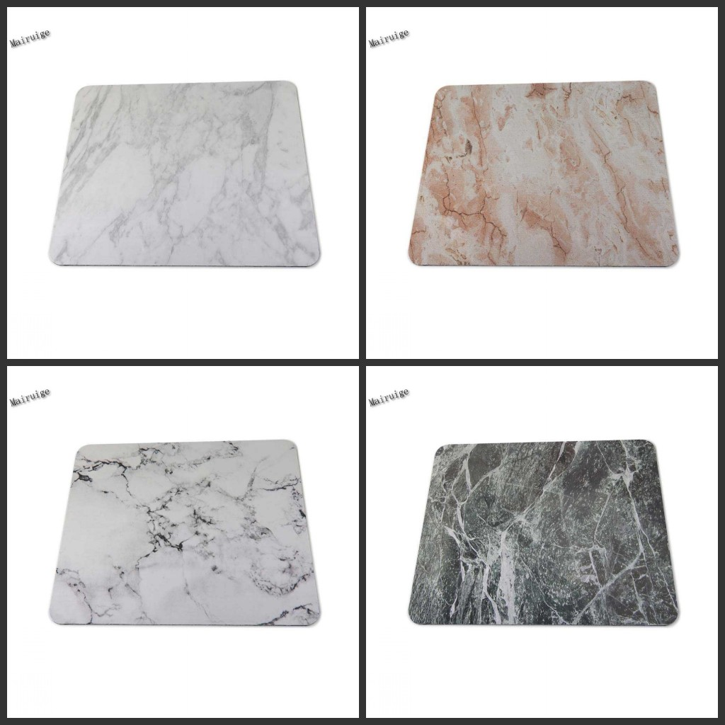Mairuige White Marble 2017 New Arrival 180X220X2 MM 250X290X2MM Silicone Mat Gaming Mouse pad As Gift image