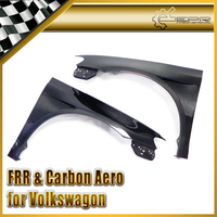 Discount Car styling For VW VW Scirocco Carbon Fiber Single Vented Front Fender +15mm