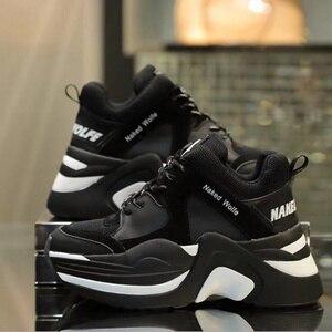Image 4 - Marka luksusowe buty Retro Casual kobiety trampki wiosna lato nowa gorąca sprzedaż gruba podeszwa obuwie damskie wygodne oddychające
