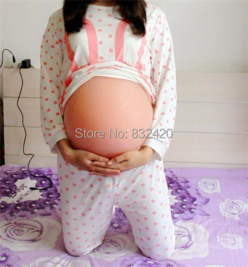 Light Skin Tone 4000g handmade fake pregnant belly twins 5~7 months for a pregnant belly Drop shipping wholesale