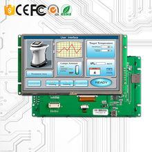 7 дюймовый резистивный сенсорный ЖК модуль tft с последовательным