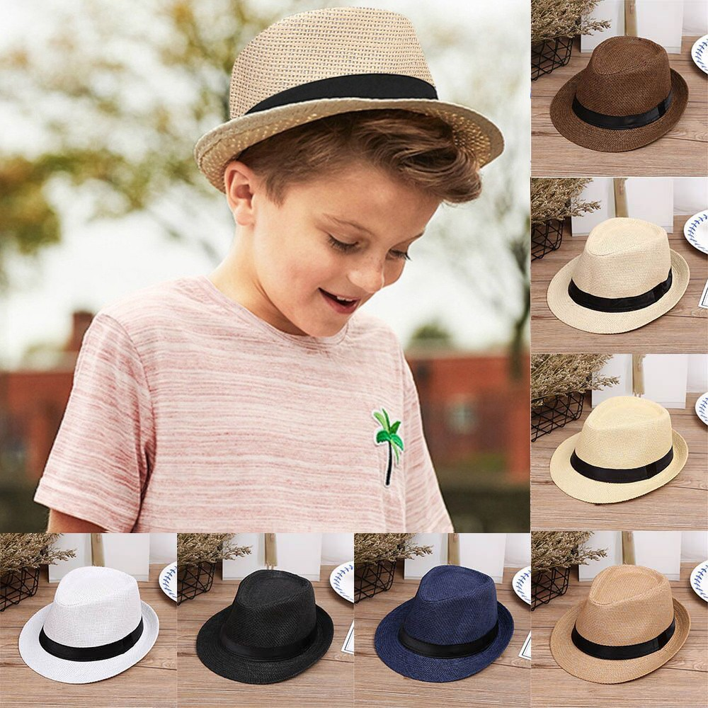 67c20d7aa15e6 ✅ (SUPER SALE) NewChildren Kids Summer Beach Straw Hat Jazz Panama ...