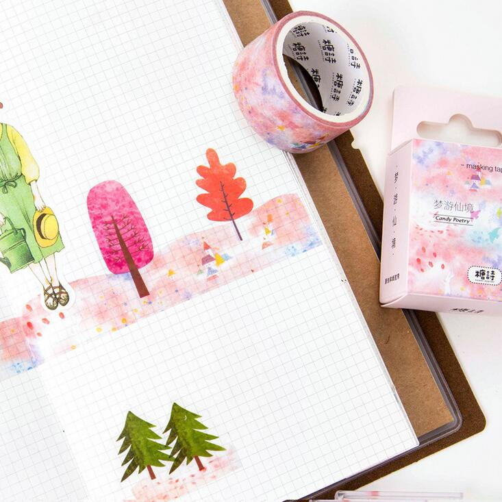 Novelty Daydream Fly Washi Tape DIY Scrapbooking Sticker Label Masking Tape School Office Supply