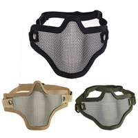 2016 New High Quality Outdoor Hiking Durable Lron Face Airsoft Mask Metal Wire Mesh Lower Party