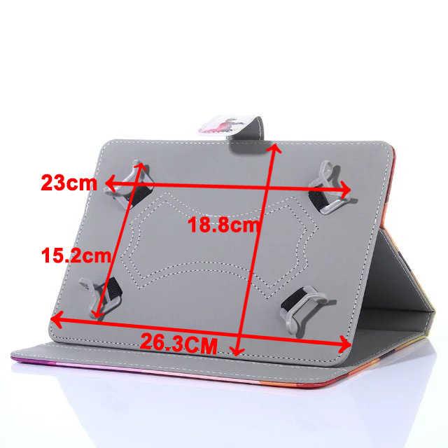 الكرتون المغناطيسي طباعة حالة العالمي 9.6 9.7 بوصة 10 بوصة 10.1 بوصة اللوحي بلوتوث لوحة المفاتيح حالة الوقوف بو أغطية جلد