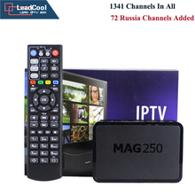 Mag250 Tv Box + 1 Year Subscription With Newest 1341 Channels IPTV Full European Arabic Channels 72 Russia Channels Added