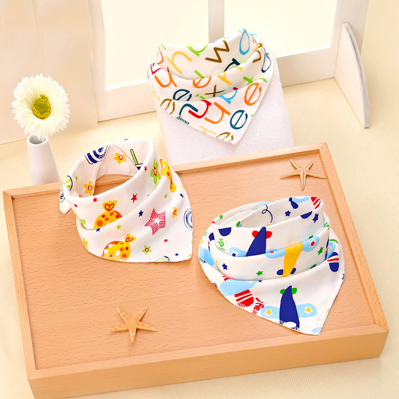 Baby Bandana Bibs Baby Feeding Smock Newborn Saliva Towel Baberos Bebe Boys Girls Stuff Cotton Dribble Bibs High Quality(China)
