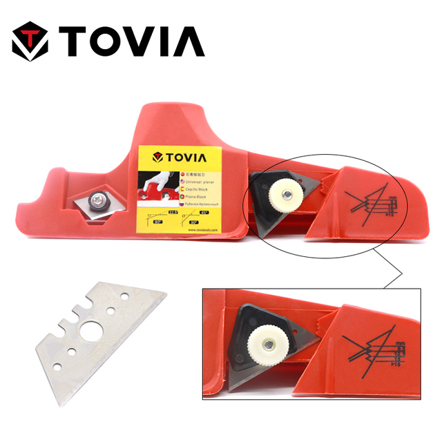 TOVIA Plasterboard Gypsum Board Drywall Edge Planing Tool Chamfer Jointer Hand Plane Universal Wood Planer Woodworking Hand Tool
