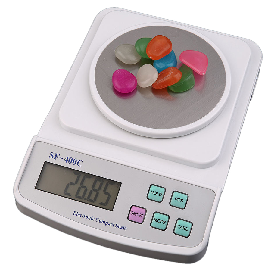 FJS Electronic Digital LCD Scale 500g x 0 01g Precision Weighing Counting White