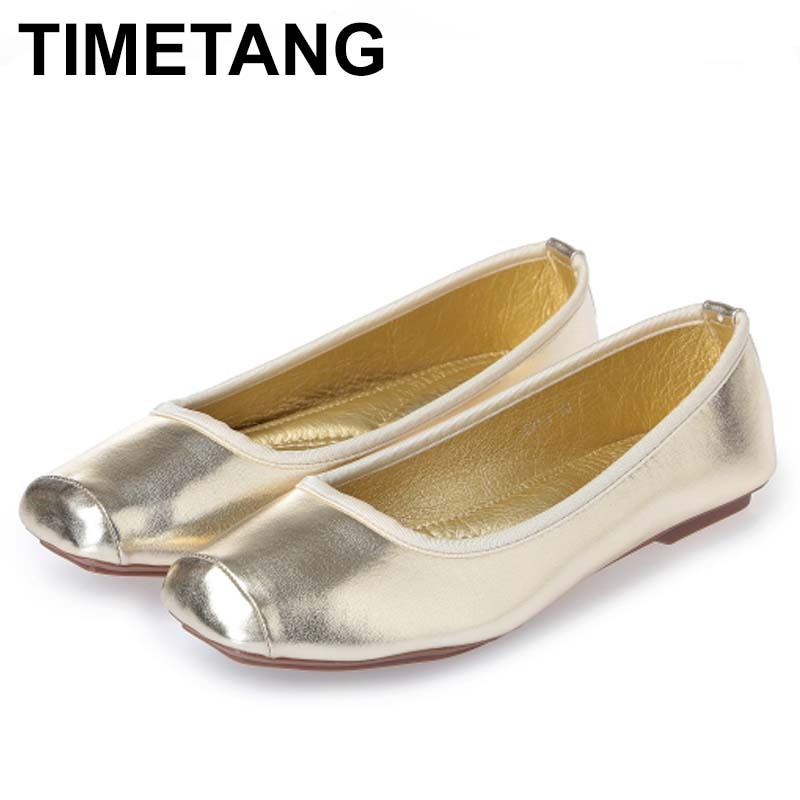 TIMETANG 2018 New PU Leather Women Flats Fashion Casual Bowtie Square Toe Sapatilhas Slip-On Ballerina Ballet Flat Shoes C153 timetang 2018 buckle knitted women single shoes square toe ballet flats soft bottom fashion work shoes woman flat shoes c084