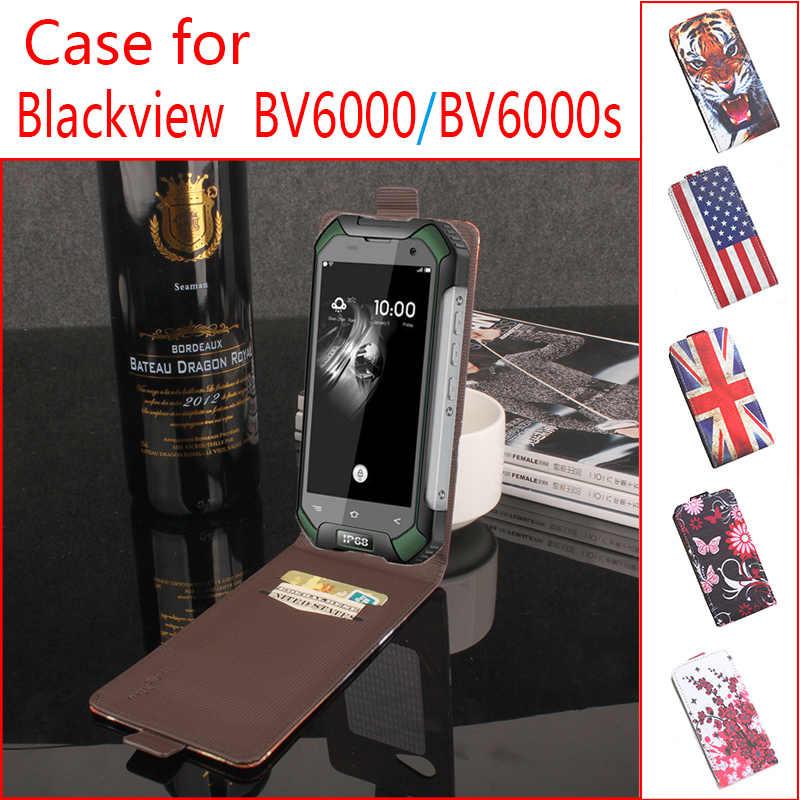 Case for Blackview BV6000 BV6000S Case Cover Flag Floral Pattern Leather Wallet Flip Phone Case for Blackview A5 A8 E7 R7 BV5000