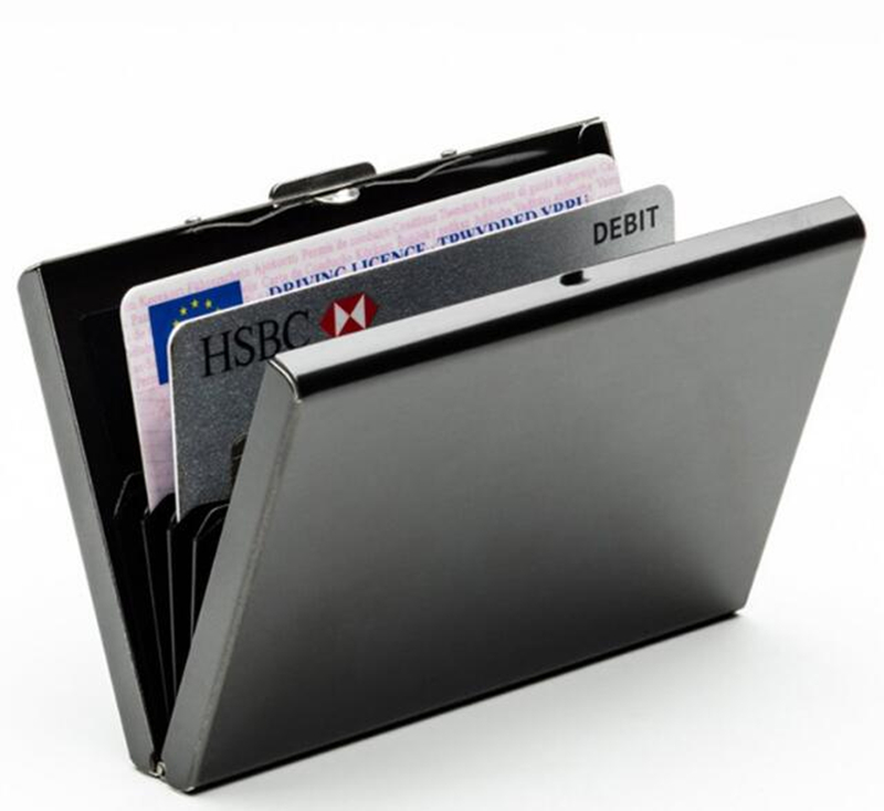 Slim Business Men's Card Pack Credit Card Holder Bank Metal check sleeve Gifts dedicated Antimagnetic be choked cover image