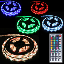 5M/16.4feet 57W Waterproof LED Lamp Strips 300 x 5050 RGB LED 8 Light Pattern with Remote Controller for Hallways / Stairs
