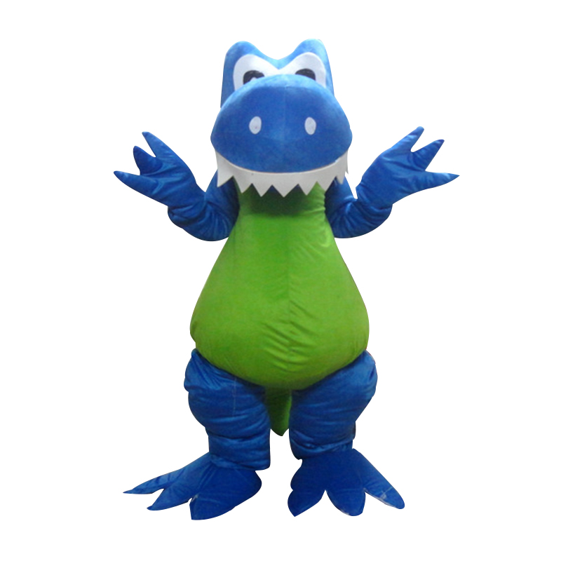 Бесплатная доставка Высокое качество синий дракон Маскоты костюм Экспресс динозавров Маскоты костюм для взрослых вечерние карнавал Рожде