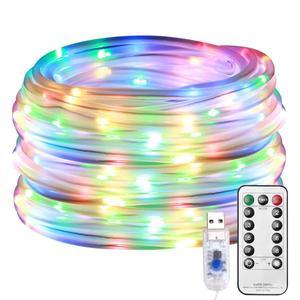Image 5 - LED チューブストリップライト 8 プレイモードリモコン USB 花輪屋外屋内 DIY 装飾はクリスマスライト