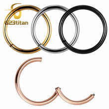 G23titan Rose Gold Color Septum Rings G23 Titanium Open Small Earrings Women Men Ear Nose Piercing Jewelry(China)