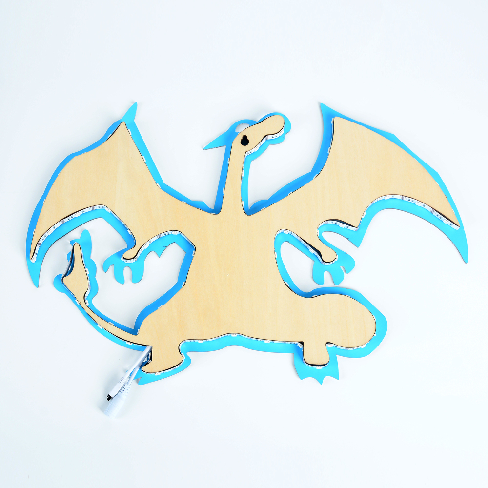 1Piece Charizard Evolution Led Wall light Pokemon Inspired LED Wall ...