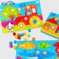 Coincidencia de Color De Madera del cabrito Suave Perlas set rompecabezas para los niños el aprendizaje de color nuevo regalo de alta quanlity para el bebé jugando aprendizaje