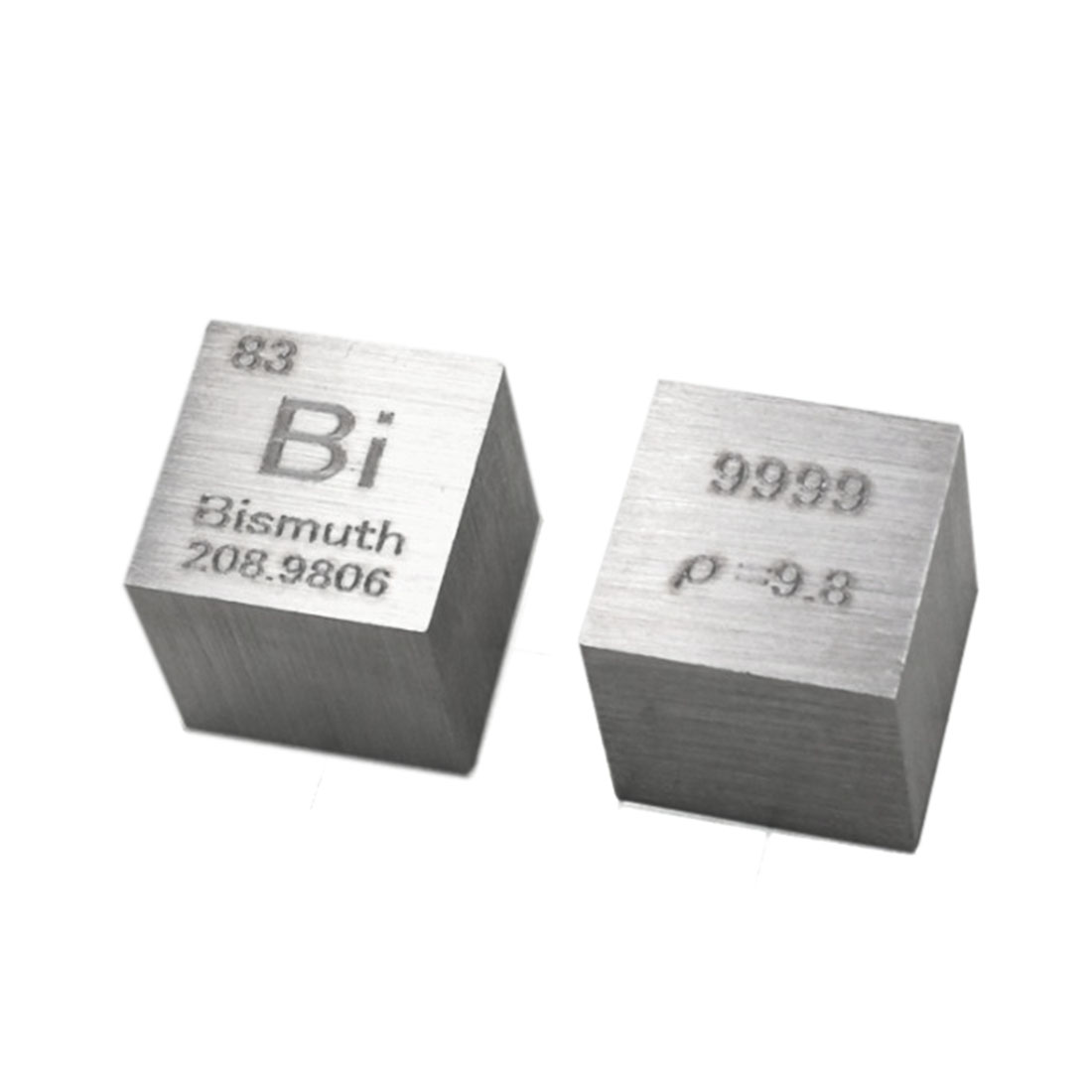 High Pure 10 X 10 X 10mm Wiredrawing Bismuth Cube Periodic Table Of Elements Cube For Study Education Collection(Bi≥99.9%)