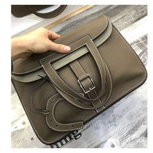 The new soft leather lychee pattern luxury handbags women bags designer feel very and powerful womens shoulder