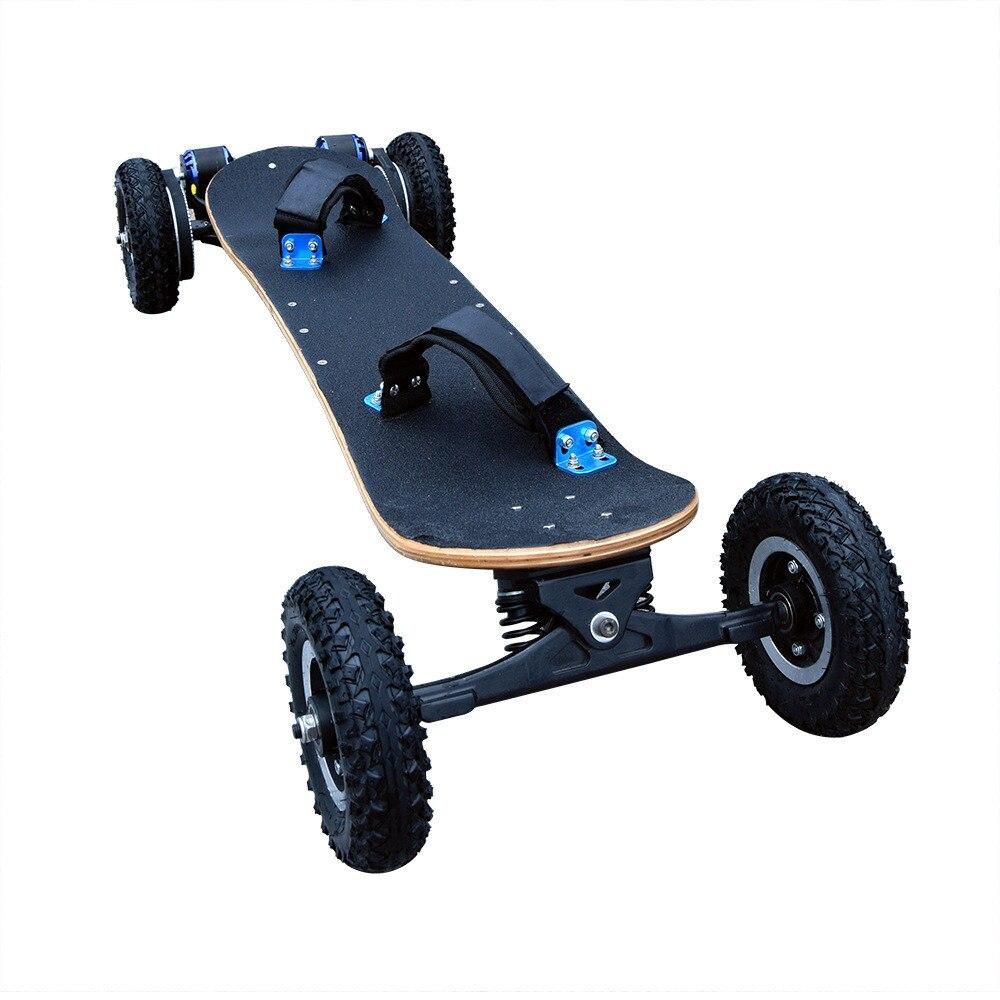 40 km/h Double Pilote Moteur Électrique Skate Board Avec Télécommande Motorisé Longboard LG batterie hovroboard électrique à quatre roues scooter