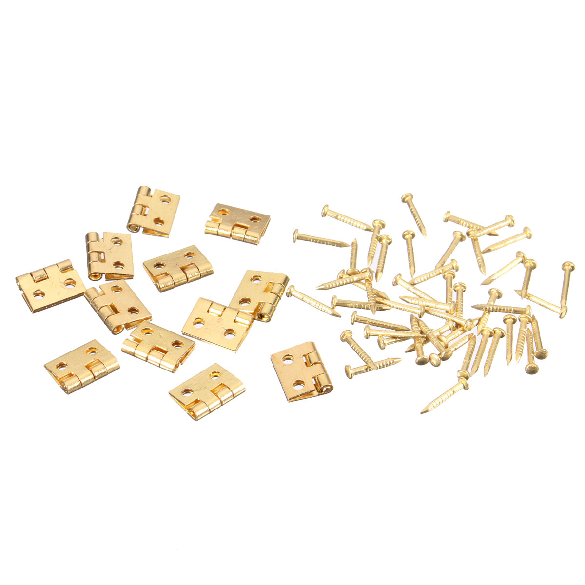 12 set Mini Metal Hinges with Approx 48 Screws For barbie jewelry Box Repairing/ Doll House Furniture/ Cabinet/ Drawer Butt 4pcs 38x21mm antique bronze cabinet hinges furniture accessories door hinges drawer jewellery box hinges for furniture hardware