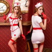 New Porn Women Lingerie Sexy Hot Erotic White Nurse Costume Cosplay Sexy Underwear Erotic Lingerie Porno