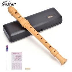 Eastar maple soprano madeira gravador conjunto c chave profissional barroco flauta gravadores instrumento com caso duro qualidade superior ERS-31BM