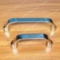 Buraco Passo 64mm/96mm roupeiro mobiliário Moderno lidar com gaveta do armário puxa oriente cetim e double-edge brilhante